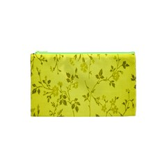 Flowery Yellow Fabric Cosmetic Bag (xs)