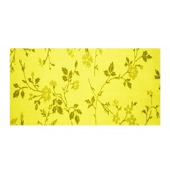 Flowery Yellow Fabric Satin Wrap by Nexatart