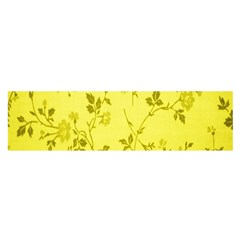 Flowery Yellow Fabric Satin Scarf (oblong) by Nexatart