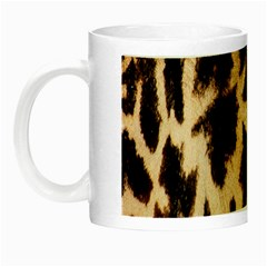 Giraffe Texture Yellow And Brown Spots On Giraffe Skin Night Luminous Mugs