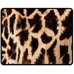 Giraffe Texture Yellow And Brown Spots On Giraffe Skin Fleece Blanket (medium)
