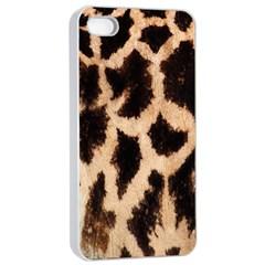Giraffe Texture Yellow And Brown Spots On Giraffe Skin Apple Iphone 4/4s Seamless Case (white) by Nexatart