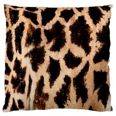 Giraffe Texture Yellow And Brown Spots On Giraffe Skin Large Cushion Case (two Sides)
