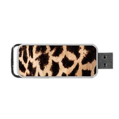 Giraffe Texture Yellow And Brown Spots On Giraffe Skin Portable Usb Flash (two Sides) by Nexatart