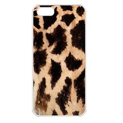 Giraffe Texture Yellow And Brown Spots On Giraffe Skin Apple Iphone 5 Seamless Case (white) by Nexatart