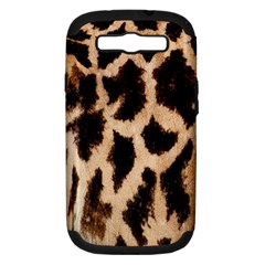 Giraffe Texture Yellow And Brown Spots On Giraffe Skin Samsung Galaxy S Iii Hardshell Case (pc+silicone)