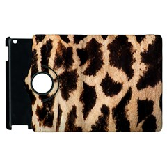 Giraffe Texture Yellow And Brown Spots On Giraffe Skin Apple Ipad 3/4 Flip 360 Case
