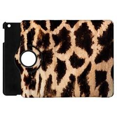 Giraffe Texture Yellow And Brown Spots On Giraffe Skin Apple Ipad Mini Flip 360 Case