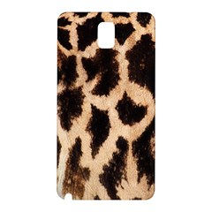 Giraffe Texture Yellow And Brown Spots On Giraffe Skin Samsung Galaxy Note 3 N9005 Hardshell Back Case