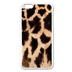 Giraffe Texture Yellow And Brown Spots On Giraffe Skin Apple Iphone 6 Plus/6s Plus Enamel White Case by Nexatart