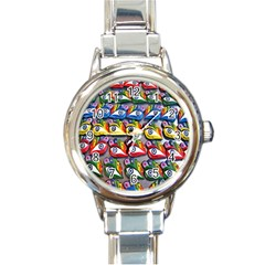 The Eye Of Osiris As Seen On Mediterranean Fishing Boats For Good Luck Round Italian Charm Watch