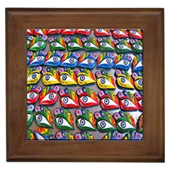 The Eye Of Osiris As Seen On Mediterranean Fishing Boats For Good Luck Framed Tiles by Nexatart