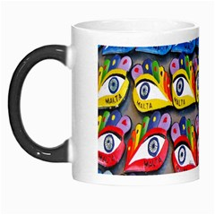The Eye Of Osiris As Seen On Mediterranean Fishing Boats For Good Luck Morph Mugs by Nexatart