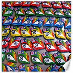 The Eye Of Osiris As Seen On Mediterranean Fishing Boats For Good Luck Canvas 12  X 12   by Nexatart