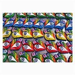 The Eye Of Osiris As Seen On Mediterranean Fishing Boats For Good Luck Large Glasses Cloth (2 Side)