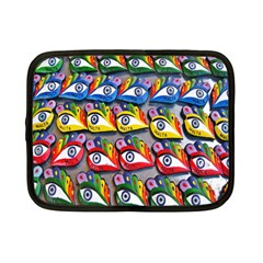 The Eye Of Osiris As Seen On Mediterranean Fishing Boats For Good Luck Netbook Case (small)  by Nexatart