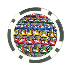 The Eye Of Osiris As Seen On Mediterranean Fishing Boats For Good Luck Poker Chip Card Guard (10 Pack) by Nexatart