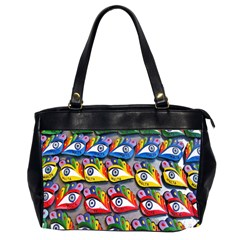 The Eye Of Osiris As Seen On Mediterranean Fishing Boats For Good Luck Office Handbags (2 Sides)  by Nexatart