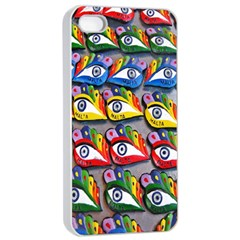 The Eye Of Osiris As Seen On Mediterranean Fishing Boats For Good Luck Apple Iphone 4/4s Seamless Case (white)