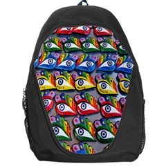 The Eye Of Osiris As Seen On Mediterranean Fishing Boats For Good Luck Backpack Bag