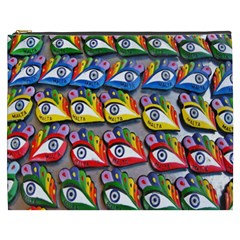 The Eye Of Osiris As Seen On Mediterranean Fishing Boats For Good Luck Cosmetic Bag (xxxl)  by Nexatart