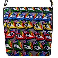 The Eye Of Osiris As Seen On Mediterranean Fishing Boats For Good Luck Flap Messenger Bag (s)