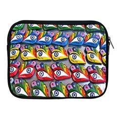 The Eye Of Osiris As Seen On Mediterranean Fishing Boats For Good Luck Apple Ipad 2/3/4 Zipper Cases