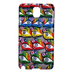 The Eye Of Osiris As Seen On Mediterranean Fishing Boats For Good Luck Samsung Galaxy Note 3 N9005 Hardshell Case by Nexatart