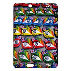 The Eye Of Osiris As Seen On Mediterranean Fishing Boats For Good Luck Amazon Kindle Fire Hd (2013) Hardshell Case by Nexatart