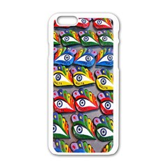 The Eye Of Osiris As Seen On Mediterranean Fishing Boats For Good Luck Apple Iphone 6/6s White Enamel Case by Nexatart