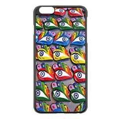 The Eye Of Osiris As Seen On Mediterranean Fishing Boats For Good Luck Apple Iphone 6 Plus/6s Plus Black Enamel Case