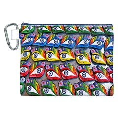 The Eye Of Osiris As Seen On Mediterranean Fishing Boats For Good Luck Canvas Cosmetic Bag (xxl) by Nexatart