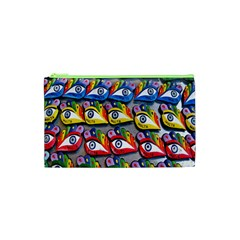 The Eye Of Osiris As Seen On Mediterranean Fishing Boats For Good Luck Cosmetic Bag (xs) by Nexatart
