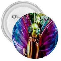 Magic Butterfly Art In Glass 3  Buttons