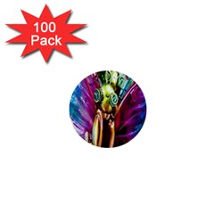 Magic Butterfly Art In Glass 1  Mini Buttons (100 Pack)