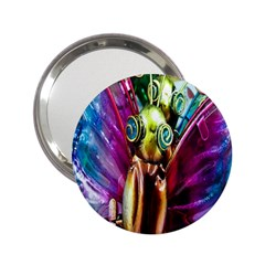 Magic Butterfly Art In Glass 2 25  Handbag Mirrors by Nexatart
