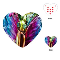 Magic Butterfly Art In Glass Playing Cards (heart)  by Nexatart