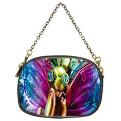 Magic Butterfly Art In Glass Chain Purses (two Sides)  by Nexatart