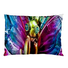 Magic Butterfly Art In Glass Pillow Case (two Sides) by Nexatart