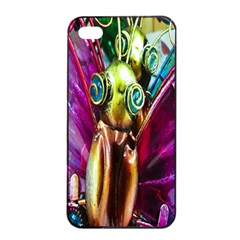 Magic Butterfly Art In Glass Apple Iphone 4/4s Seamless Case (black)