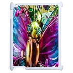 Magic Butterfly Art In Glass Apple iPad 2 Case (White) Front