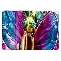 Magic Butterfly Art In Glass Samsung Galaxy Tab 8 9  P7300 Flip Case