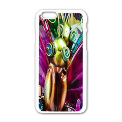 Magic Butterfly Art In Glass Apple Iphone 6/6s White Enamel Case by Nexatart