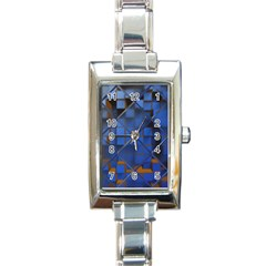 Glass Abstract Art Pattern Rectangle Italian Charm Watch