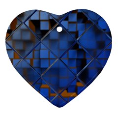 Glass Abstract Art Pattern Ornament (heart)
