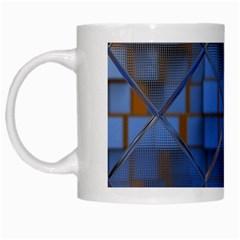 Glass Abstract Art Pattern White Mugs by Nexatart