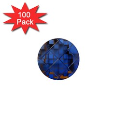Glass Abstract Art Pattern 1  Mini Magnets (100 Pack)