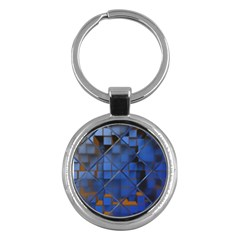 Glass Abstract Art Pattern Key Chains (round)