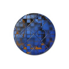 Glass Abstract Art Pattern Magnet 3  (round) by Nexatart