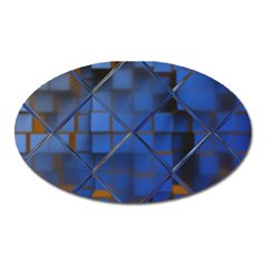 Glass Abstract Art Pattern Oval Magnet by Nexatart
